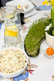Utensílios de mesa da Páscoa foto de stock royalty free