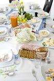 Utensílios de mesa da Páscoa fotos de stock royalty free