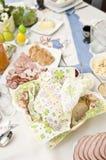 Utensílios de mesa da Páscoa imagens de stock royalty free
