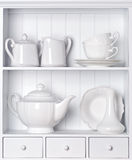 Utensílios de mesa da porcelana do vintage imagens de stock royalty free