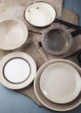 Utensílios de mesa do vintage Imagem de Stock