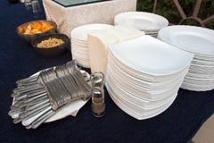 Utensílios de mesa e placas Foto de Stock Royalty Free