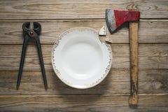Utensílios de mesa estranhos Foto de Stock Royalty Free