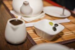 Utensílios de mesa para o sushi Fotos de Stock