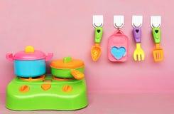 Utensílios de mesa plásticos Foto de Stock
