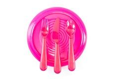 Utensílios de mesa plásticos Imagem de Stock