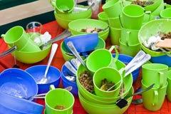 Utensílios de mesa sujos Fotos de Stock Royalty Free
