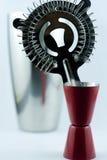 Utensílios de mistura do cocktail Foto de Stock Royalty Free
