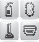 Utensílios do banho Imagens de Stock