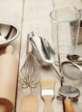Utensílios do cozimento da cozinha Imagem de Stock