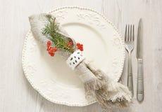 Utensílios para o jantar festivo Imagens de Stock Royalty Free