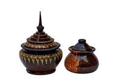 Utensílios tailandeses de madeira Foto de Stock