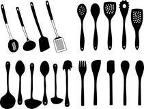 Utensil. A vector, illustration for a variety of utensil, kitchen household Royalty Free Stock Photo