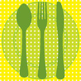 Utensil background Royalty Free Stock Images
