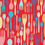 utensil för matställeinbjudansilhouette Royaltyfri Foto