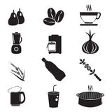 Utensil and food icon set Stock Image