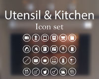 Utensil and kitchen icon set Royalty Free Stock Images