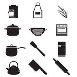 Utensil, kitchenware icon set Royalty Free Stock Photos