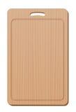 Utensile da cucina semplice della presa del tagliere dello spazio in bianco di legno verticalmente Fotografia Stock