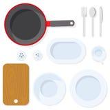 Utensile della cucina tableware royalty illustrazione gratis