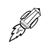 Utensile di tiraggio della matita illustrazione di stock