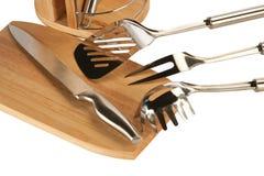 Utensili d'argento della cucina Immagine Stock Libera da Diritti