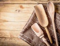 Utensili da cucina rustici Fotografie Stock Libere da Diritti