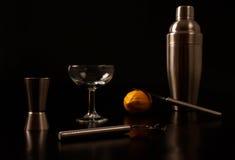 Utensili del cocktail Fotografia Stock