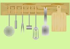 Utensili della cucina. Immagine Stock Libera da Diritti