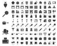 Utensili della cucina, attrezzature del forno, uniforme del cuoco unico e appli domestico royalty illustrazione gratis