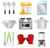 Utensili della cucina, cucinanti, ristorante Fotografia Stock Libera da Diritti