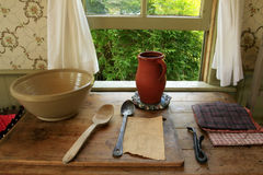 Utensili della cucina dell'annata Fotografia Stock