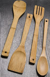 Utensili di cottura di legno Immagine Stock