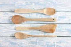 Utensili di cottura di legno Fotografia Stock Libera da Diritti