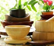 Utensili di legno della cucina Fotografia Stock