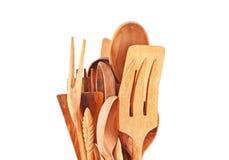 Utensili di legno della cucina Immagini Stock Libere da Diritti
