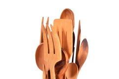 Utensili di legno della cucina Fotografia Stock Libera da Diritti