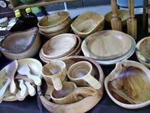 Utensili fatti di legno immagini stock libere da diritti
