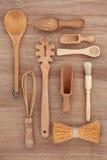 Utensili rustici della cucina Fotografie Stock