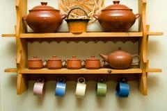 Utensilios de cerámica Imagen de archivo libre de regalías