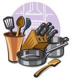 Utensilios de cocina Fotos de archivo libres de regalías