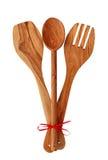 Utensilios de cocinar de madera Fotografía de archivo libre de regalías