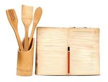 Utensilios de cocinar de madera Fotografía de archivo