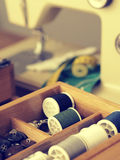 Utensilios de costura del vintage Imagen de archivo