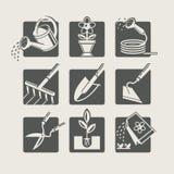 Utensilios de jardinería. stock de ilustración