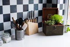 Utensilios de la cocina Imagenes de archivo