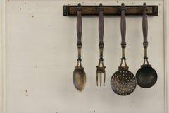 Utensilios de la cocina del vintage Foto de archivo