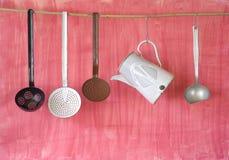 Utensilios de la cocina del vintage Fotografía de archivo