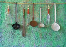 Utensilios de la cocina del vintage Imagen de archivo