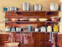 Utensilios de la cocina del vintage Imagenes de archivo